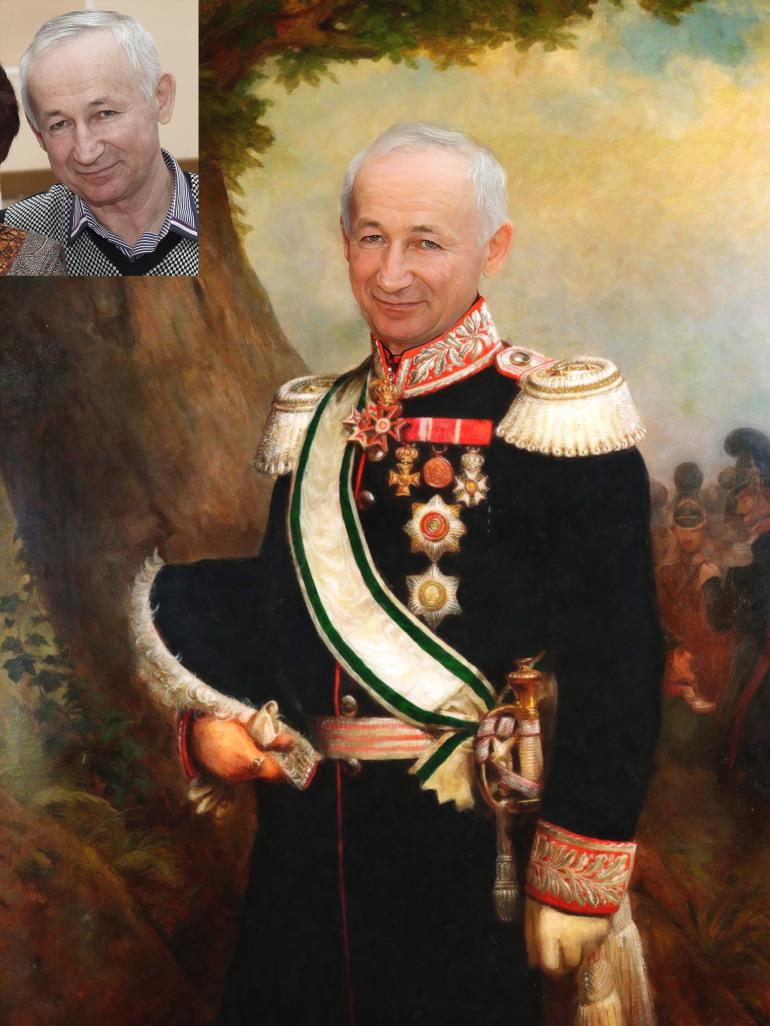 Где заказать исторический портрет по фото на холсте в Самаре?