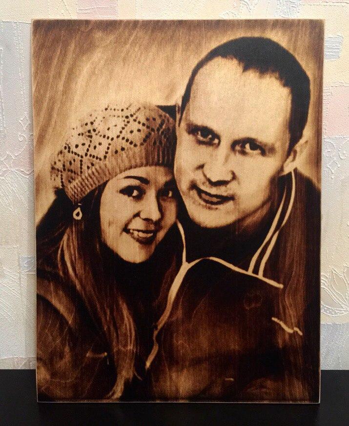 выжигание портретов по дереву на заказ в Самаре