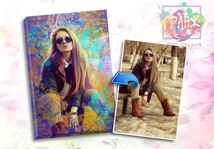 Портрет по фото на заказ в честь 8 марта в Самаре
