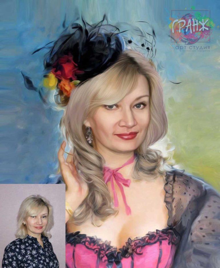 Заказать арт портрет по фото на холсте в Самаре…