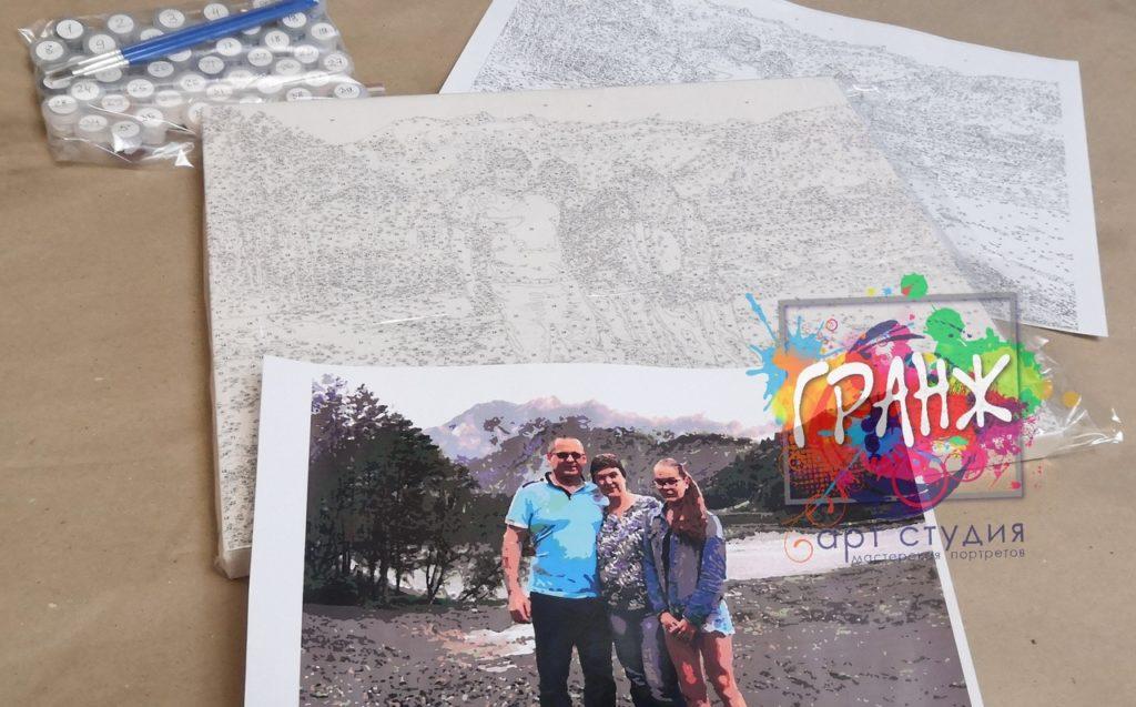 картин по номерам на холсте по фото в Самаре