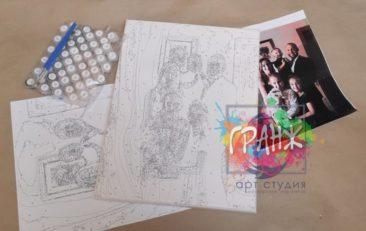 Картина по номерам по фото, портреты на холсте и дереве в Самаре